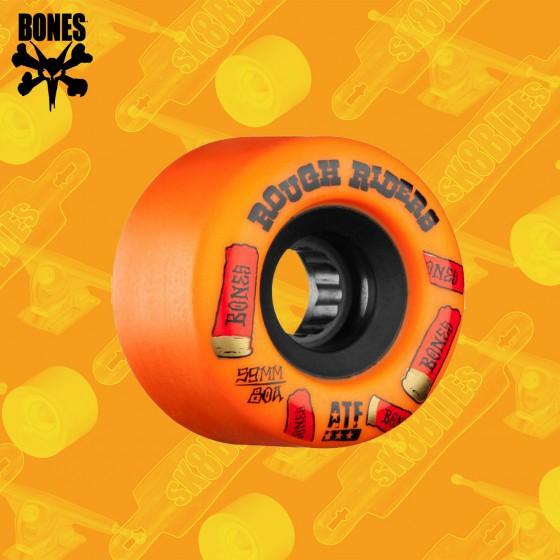 Bones Rough Riders ATF Shotgun 59mm Yellow Longboard Freeride Slide Wheels
