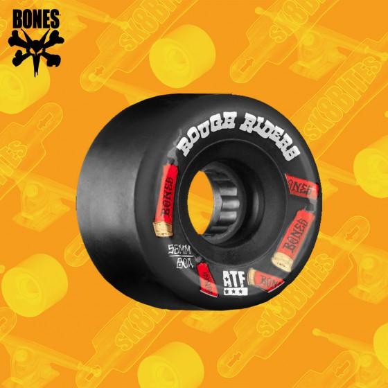 Bones Rough Riders ATF Shotgun 59mm Orange Longboard Freeride Slide Wheels