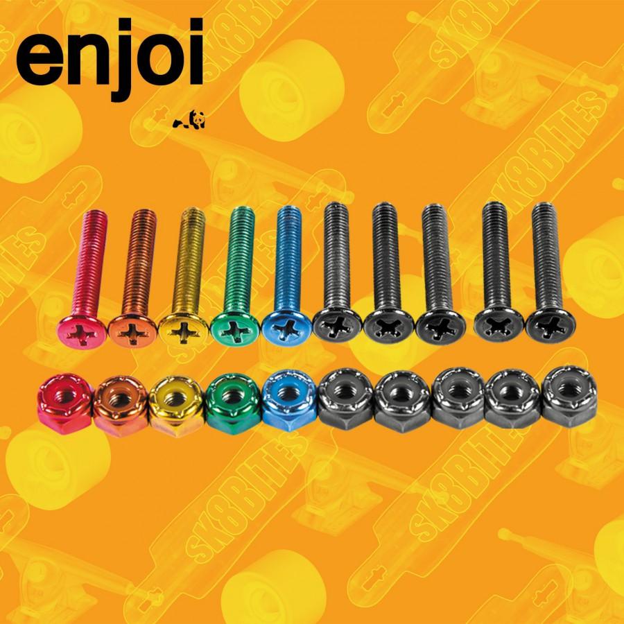 Enjoi Colorful Little Buddies Viti e Dadi Longboard Freeride Hardware
