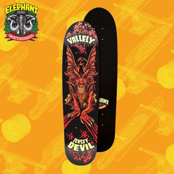 "Elephant Smashed Ticket Brown 8,5"" Skateboard Street Deck"