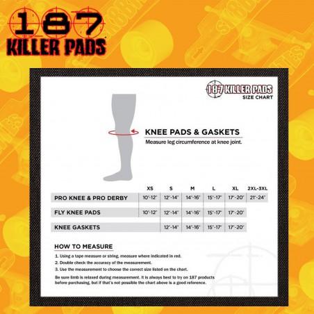 187 Pro Derby Black/Black Skateboard Street Skatepark Knee Pads