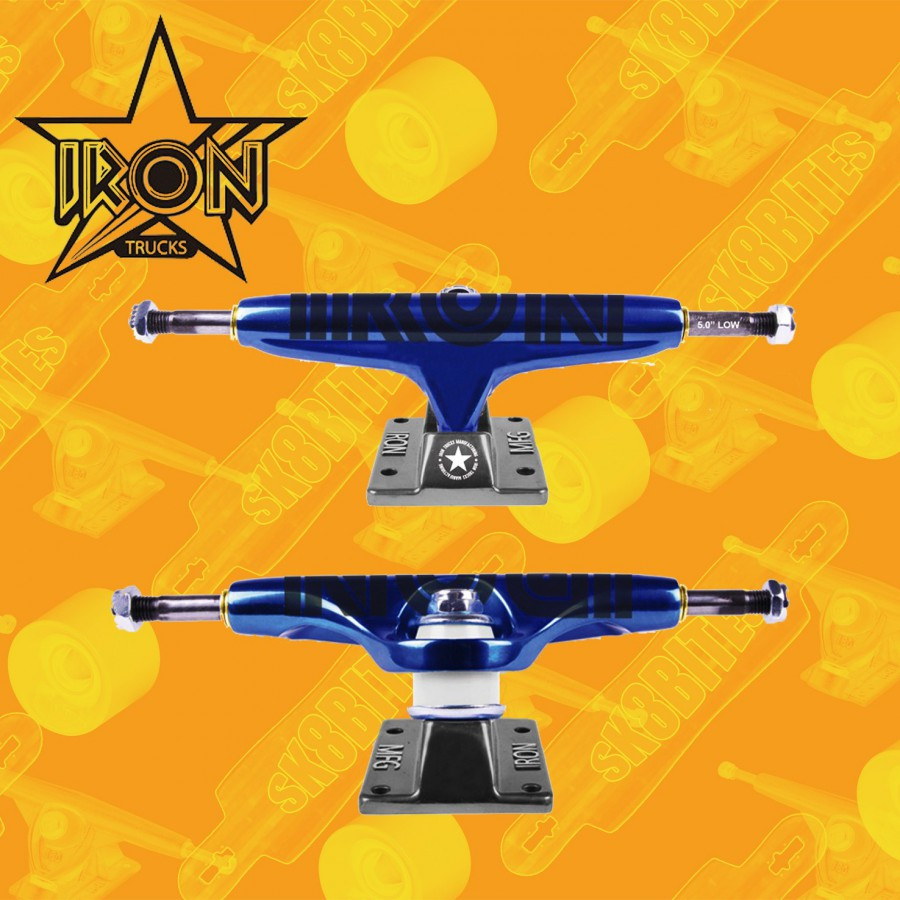 Iron Trucks 5.25 Low Blue Attacchi Skateboard Trcuks
