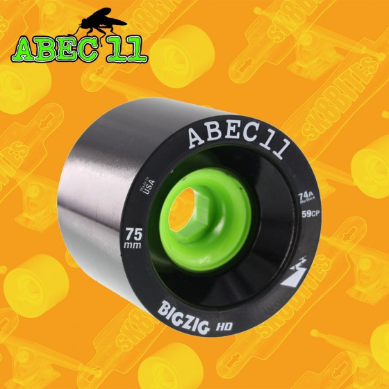 Abec 11 Big Zig HD 74a 75mm Ruote Longboard Freeride Slide