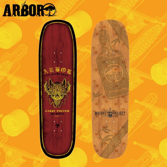 "Arbor Martillo 8,75"" Longboard Skateboard Freeride Deck"