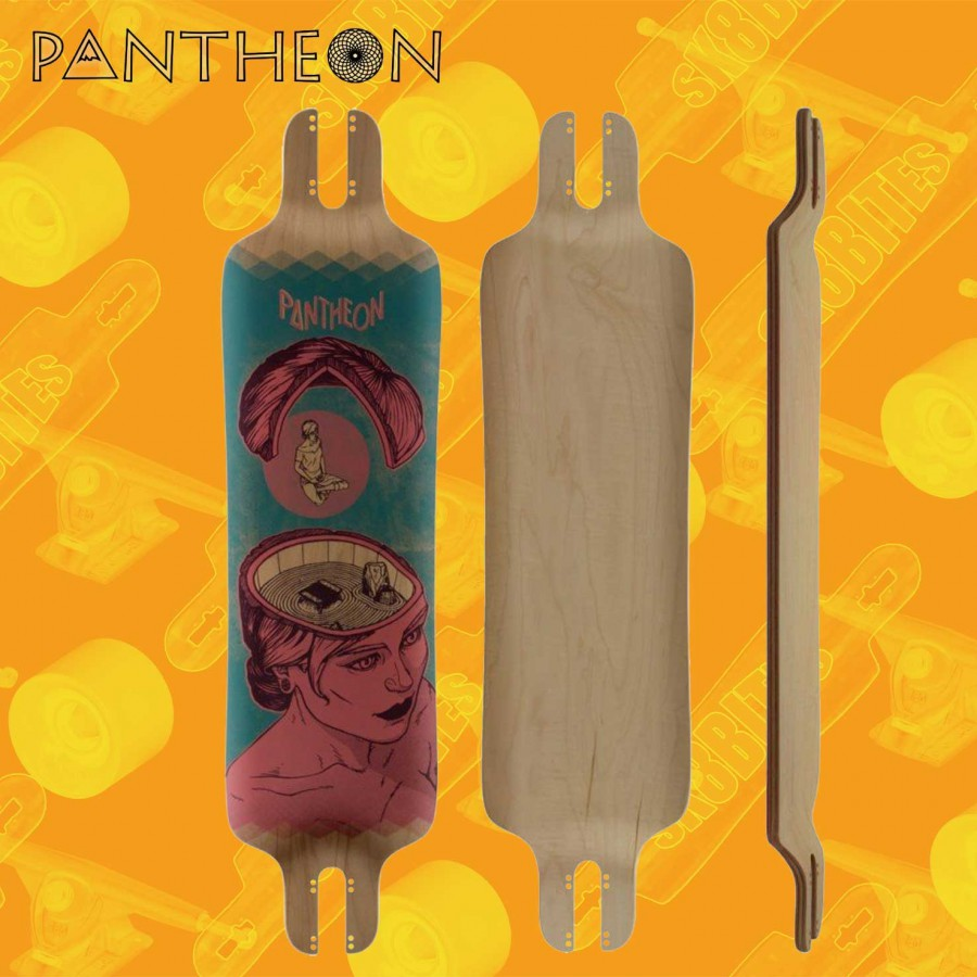 Pantheon Trip V2 9-ply Red Longboard Pushing Freeride Deck