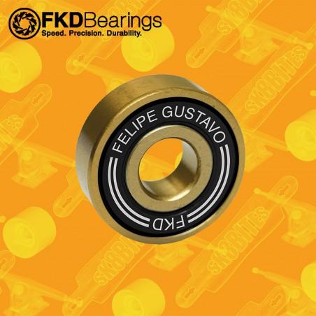 FKD Pro Gold Bearings Felipe Gustavo Cuscinetti Skateboard Street Longboard