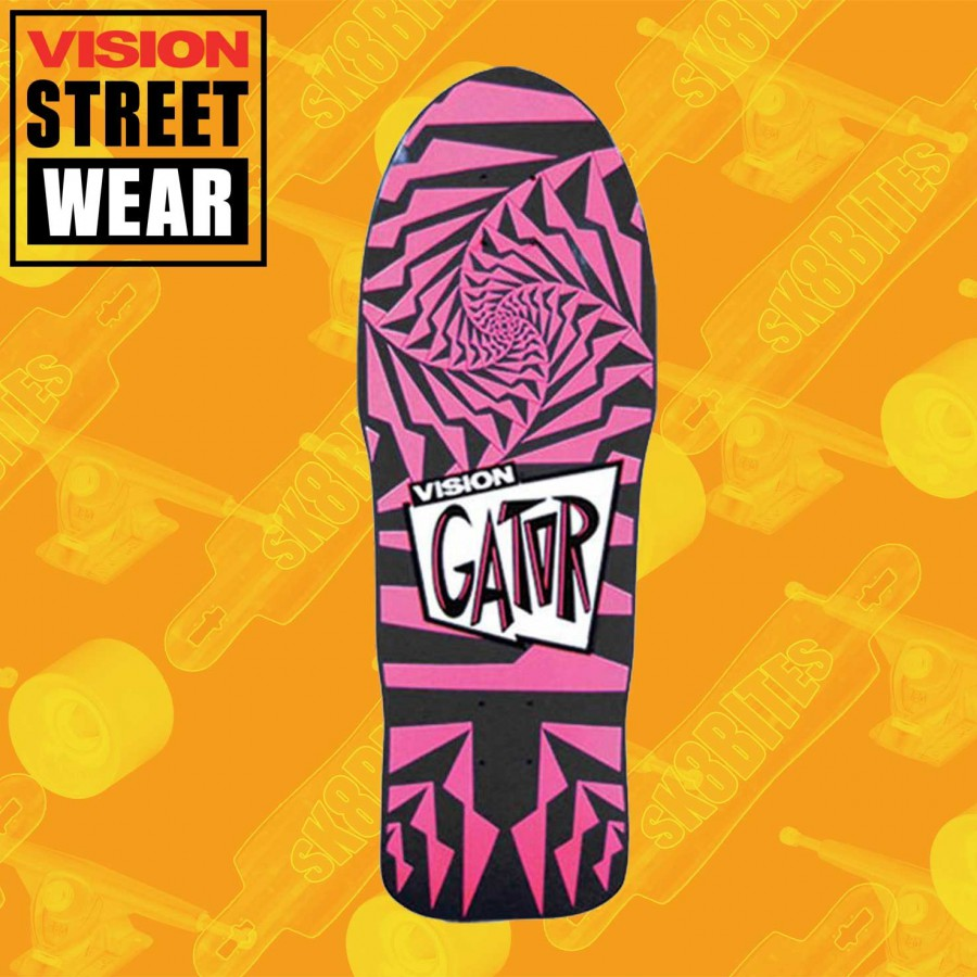 Vision Gator 2 Modern Concave Pink/Yellow Fade Skateboard Oldschool Deck