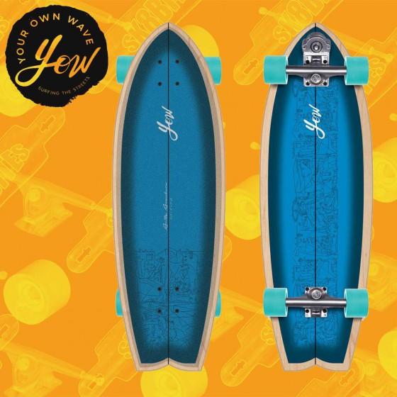 """Yow Mundaka 32"""" Tavola Skateboard Surfskate Slide"""