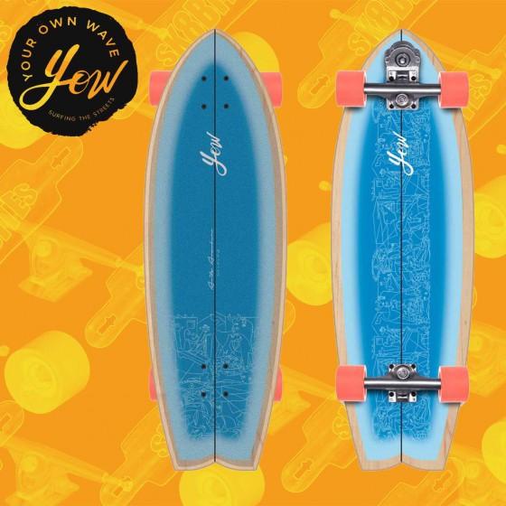 """Yow Aritz Aranburu 32.5"""" Surfskate Carving Deck"""