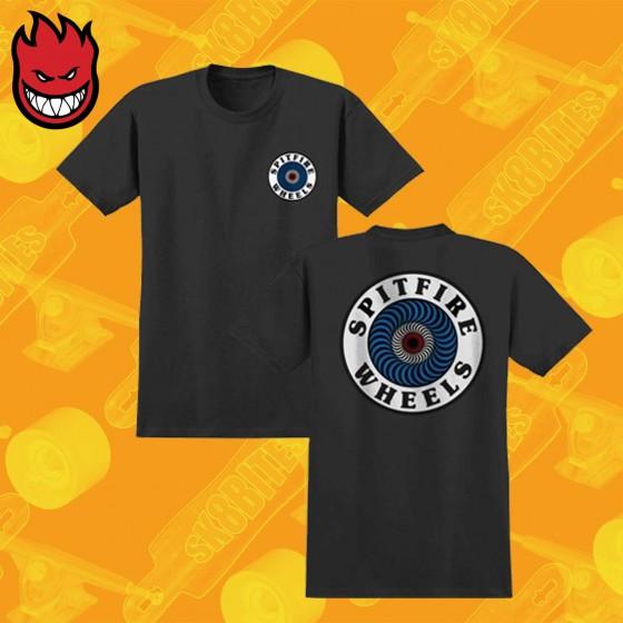 Spitfire  OG Circle Black T-Shirt Skateboard Streetwear Unisex