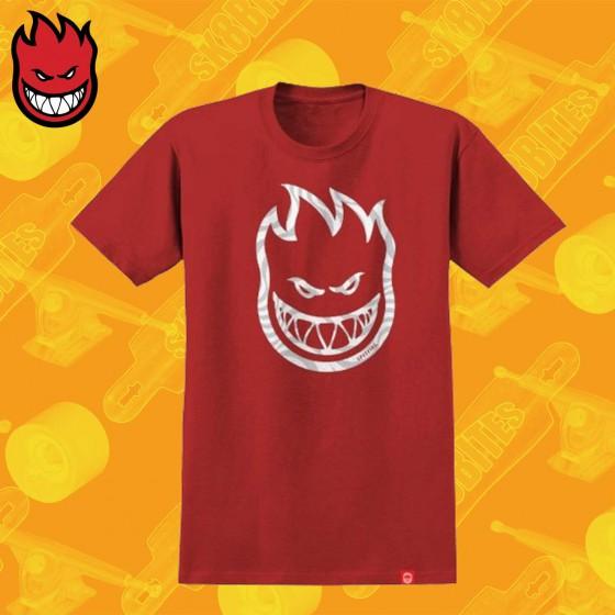 Spitfire Bighead Swirl Fill Red T-Shirt Maglietta Skateboard Streetwear Unisex