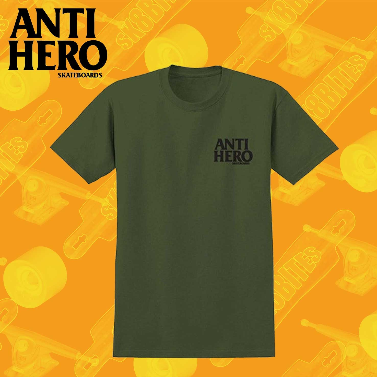 Antihero Lil Blackhero T-Shirt Green//Black