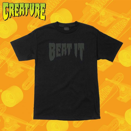 Creature Beat It Black T-Shirt Maglietta Skateboard Streetwear Unisex