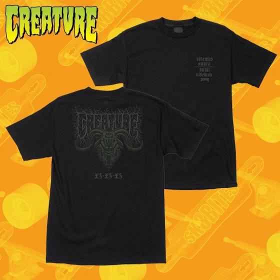 Creature Staag Black T-Shirt Maglietta Skateboard Streetwear Unisex