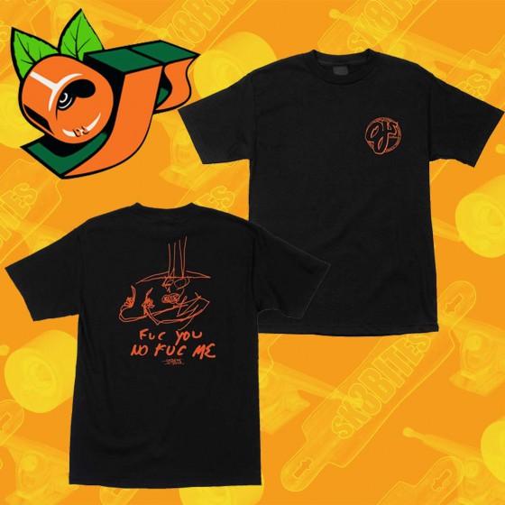 OJ Wheels Logo Fuc J.Jessee Black T-Shirt Maglietta Skateboard Streetwear Unisex
