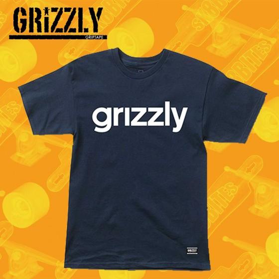 Grizzly Lowercase Black Maglietta Skateboard Streetwear Unisex