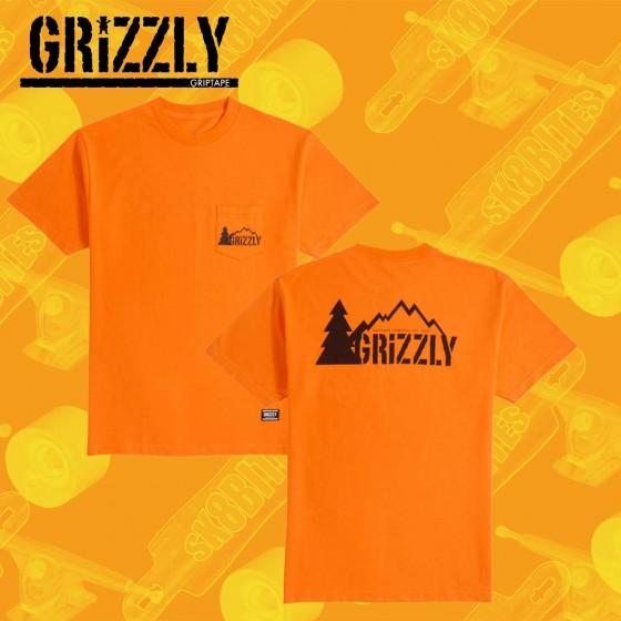 Grizzly Lowercase Navy Maglietta Skateboard Streetwear Unisex