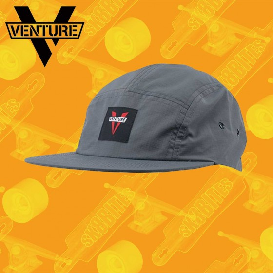 Venture Camp Hat Clipback Charcoal Cappellino Snapback Street Skate