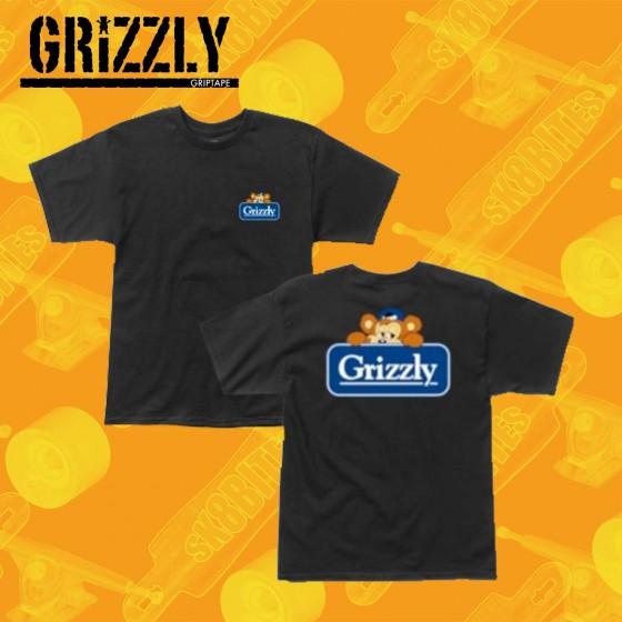 Grizzly Rock Crusher  Black  Maglietta Skateboard Streetwear Unisex