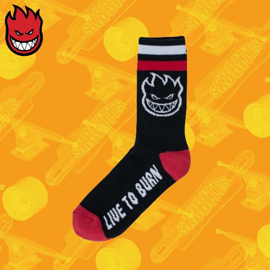 "Spitfire Bighead LTB ""Live to Burn"" Sock Skateboard Street Unisex"