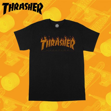 Thrasher Magazine Logo Black  Skateboard Street Unisex  Urban Clothing