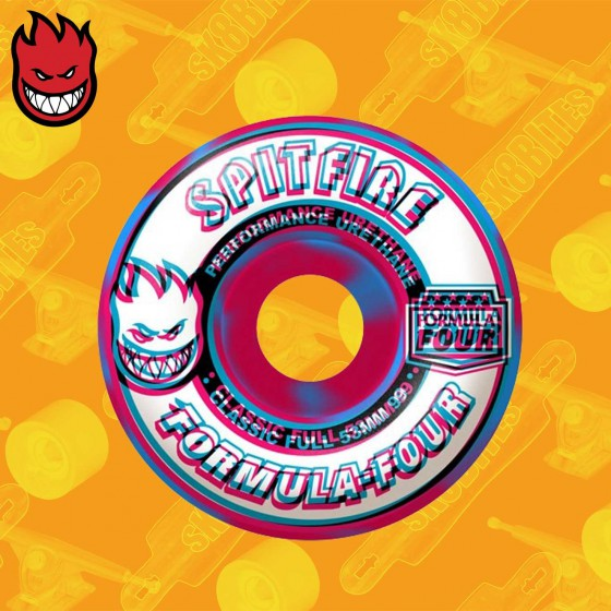 Spitfire  Overlay Classic Full Pink/Blue Swirl F4 99D 53mm  Ruote Skateboard Street