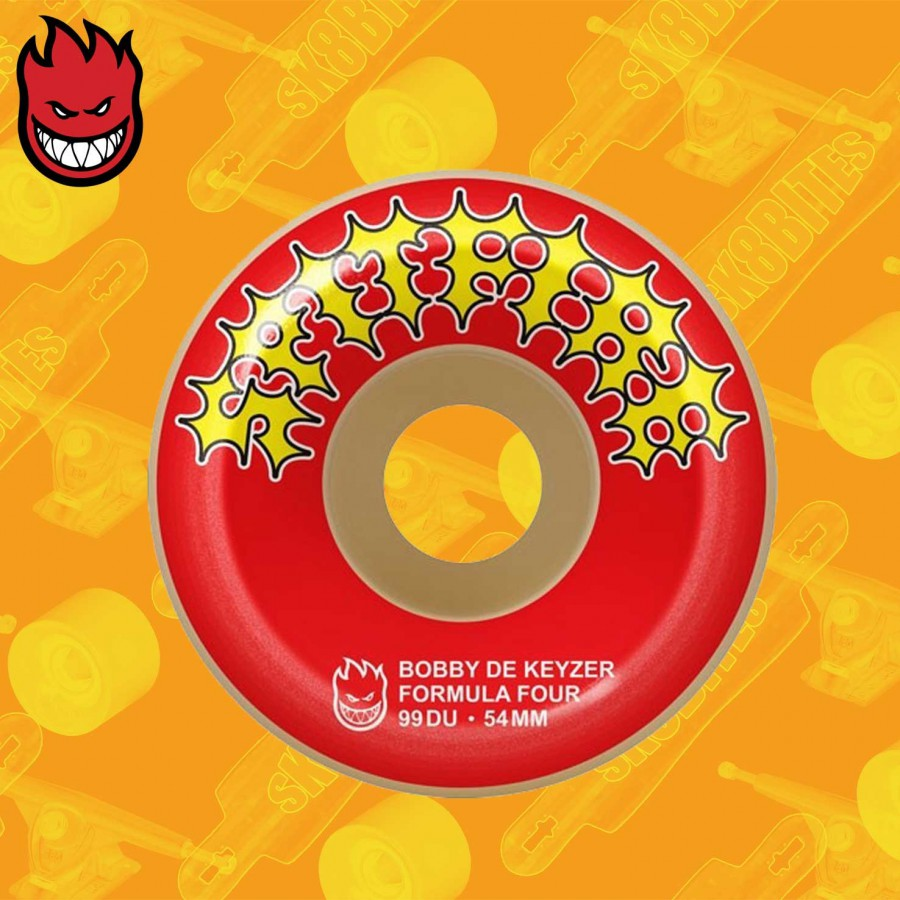 Spitfire De Keyzer Two Stroke Conical Fulls F4 99D 54mm  Skateboard Street Wheels