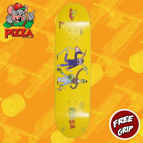 "Pizza Party Deck Blue 8.375"" Tavola Skateboard Street"
