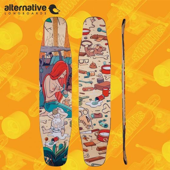 "Alternative Erget 43,3"" Tavola Longboard dancing Freestyle"