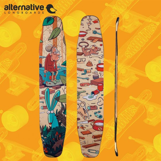 "Alternative Flamingo 41,7"" Longboard Freestyle Dancing Deck"