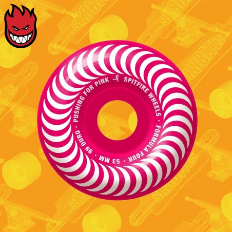 Spitfire Pushing For Pink F4 99D 53mm Ruote Skateboard Street