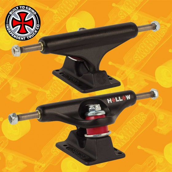 Independent Forged Hollow Matte Black 149mm Skateboard Street Trucks