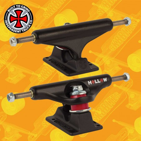 Independent Forged Hollow Matte Black 149mm Attacchi Skateboard Street Trucks