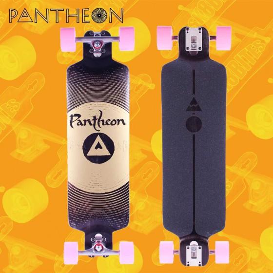 """Pantheon Trip 'Gong' V2 9-ply Black 33"""" Tavola Longboard Pushing Freeride"""