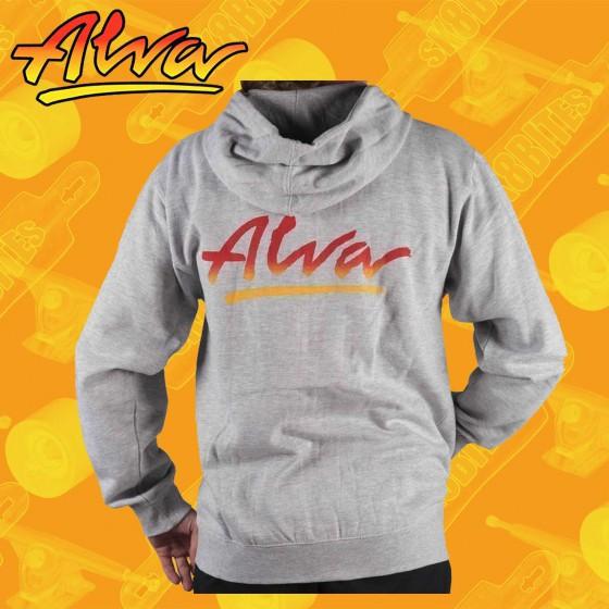 Alva OG Zip-Up Hoodie Grey Felpa Skateboard Street