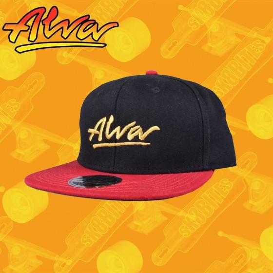 Alva OG Snapback Hat Black/Red Street Skate