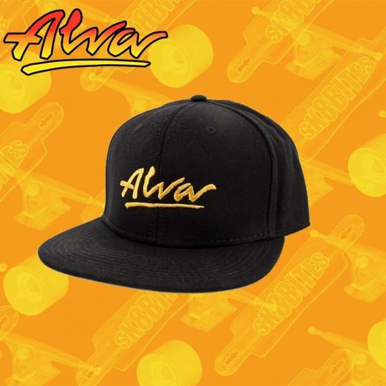 Alva OG Snapback Hat Black Skate Streetwear