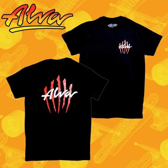 Alva Scratch T-shirt Black Maglietta Skateboard Unisex