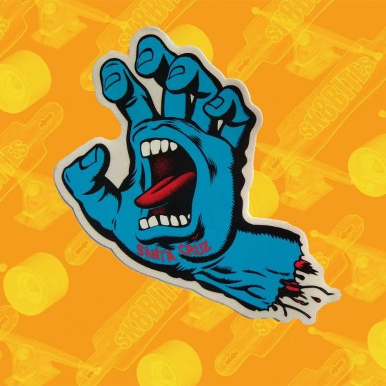 Santa Cruz Screaming Hand Blue Skateboard Sticker
