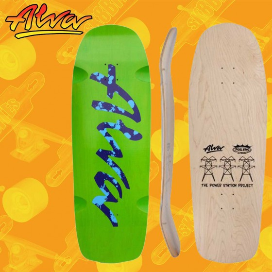 "Alva Urban Guerilla Orange Blue 8,75"" Tavola Skateboard Oldschool"
