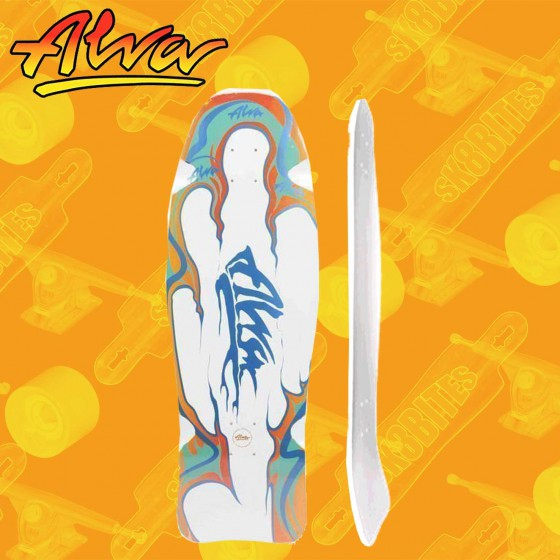 Alva Aggression Fish Re-Issue White/Teal/Blue 10,75