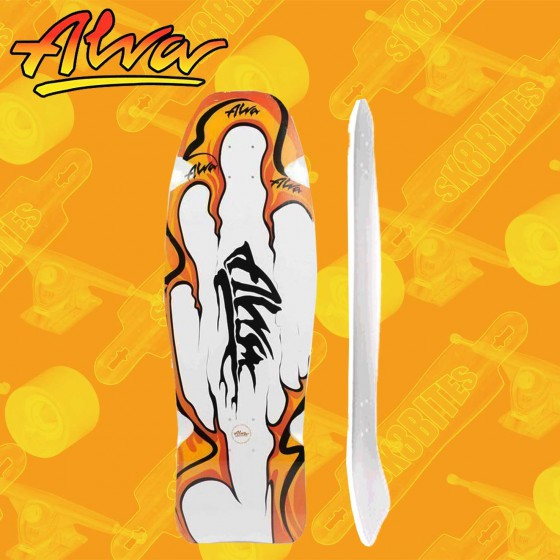 "Alva Aggression Fish Re-Issue White/Teal/Blue 10,75"" Tavola Skateboard Oldschool"