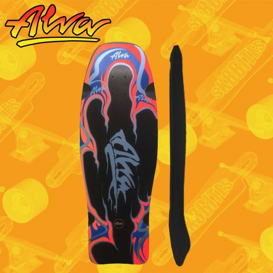 "Alva Aggression Fish Re-Issue White/Pink 10,75""  Skateboard Oldschool Deck"