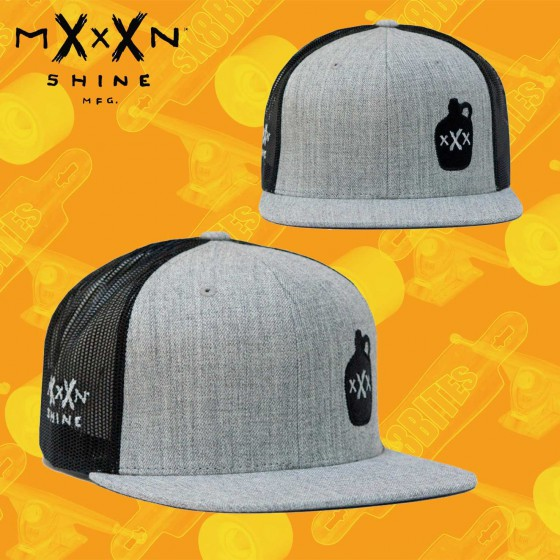 Moonshine Jug Snapback Cap Heather Grey/Black Hat Street Skate