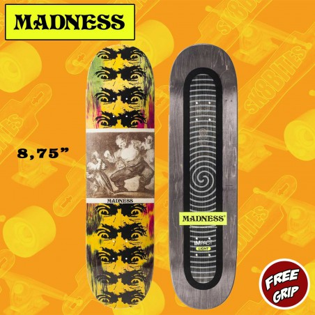 "MADNESS Los Disparates 8.75"" Impact Light  Skateboard Street Deck"
