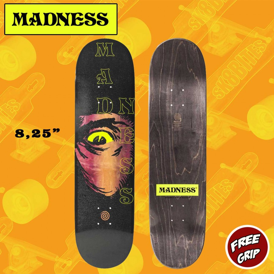 "MADNESS Eye of The Beholder 8.25"" R7 Skateboard Street Deck"