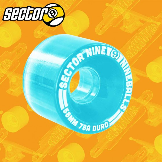 Sector 9 Nineballs Light Red 58mm Longboard Carving Cruising Wheels
