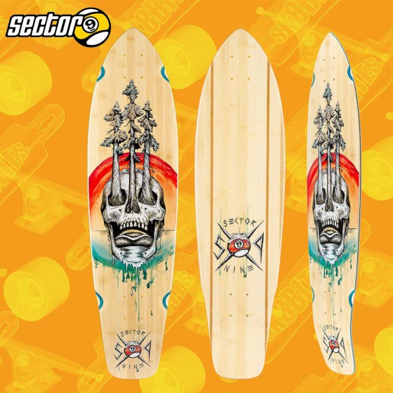 "Rayne Anthem BTB Graphic 36"" Longboard Carving Cruising Freride Deck"