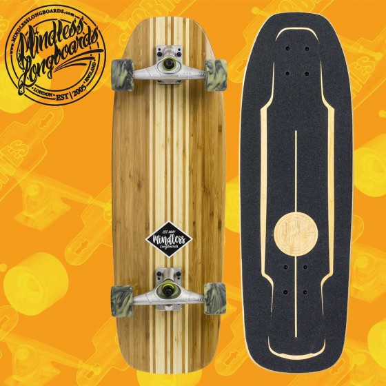 "Mindless Surfskate Black 30"" Tavola Skateboard Surfskate Slide"