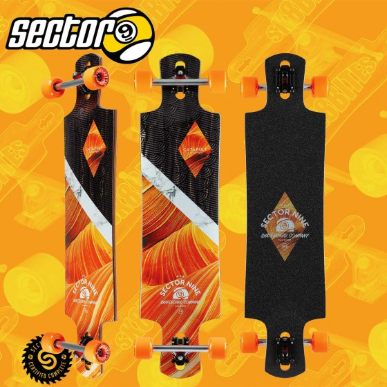 "Sector 9 Valley Fault Line 39,5"" Tavola Completa Longboard Freeride Cruising Carving"